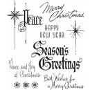 CMS389 Stampers Anonymous Tim Holtz Cling Mounted Stamp Set - Christmastime #2